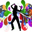 Royalty-Free Stock Vector Image: Girl in a disco