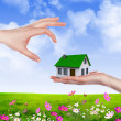 Hands holding house — Stock Photo #5777343