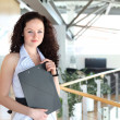 Young pretty businesswoman — Stock Photo