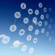 Elements of the social network - Stock Photo