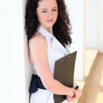 Young pretty businesswoman — Stock Photo