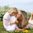 Girl with mother in the park — Stock Photo #5794560