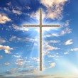Christian cross against the sky — Stock Photo #5795835