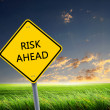 Road sign of risk ahead — Stock Photo #5801629