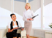 Two young business women — Stock Photo