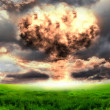 Nuclear explosion in an outdoor setting — Stock Photo #5831201