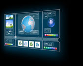 GPS navigator display — Stock Photo