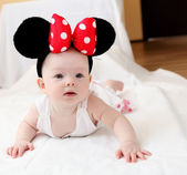 Little baby with mouse ears — Stock Photo
