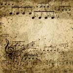 Muziek notities — Stockfoto