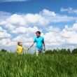 Father with son in summer day outdoors — Stock Photo #5848984