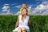 Mother with her child outdoor — Stock Photo