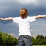 Litlle boy outdoors — Stock Photo #5850258
