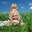 Mother with her daughter outdoors - Foto de Stock