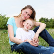 Mother with her son outdoors — Stock Photo