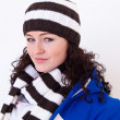 Young pretty woman wearing hat — Stock Photo #5868974