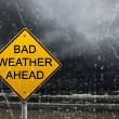 Stock Photo: Warning sign of bad weather ahead