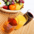 Breakfast of fresh fruit - Stock Photo