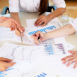 Stock Photo: Financial and business documents on the table