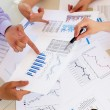 Financial and business documents on the table — Stockfoto