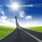 Route allant vers le haut — Photo