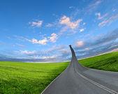 公路路往上走 — 图库照片