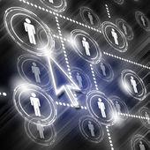 Symbol of social network — Stock Photo