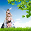 Royalty-Free Stock Photo: Happy family spending time together