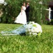 Suite bouquet in foreground — Stockfoto #5959367