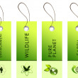Green labels with nature symbols — Stock Photo #5962129