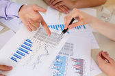 Financial and business documents on the table — Stock Photo
