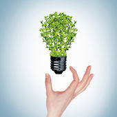Green bulb — Stock fotografie