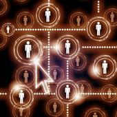 Symbol sieci społecznej — Zdjęcie stockowe