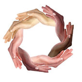 Picture of human hands — Stock Photo