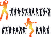 Disco dancing and young — Stockvector