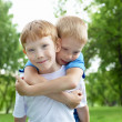 Portrait of two boys in the summer outdoors — Foto Stock