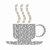 Taza de café constituida palabras — Foto de Stock