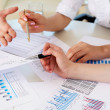 Financial and business documents on the table - Foto de Stock  
