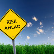 Road sign of risk ahead — Stock Photo #6023139