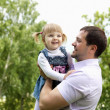 Portrait of father with daughter outdoor — Stock Photo #6035170