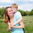 Mother with her son outdoors — Stock Photo #6043677