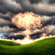 Nuclear explosion in an outdoor setting — Stock Photo #6048902