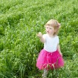 Portrait of a little girl outdoors — Stock Photo