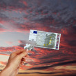 Picture of puzzle for a banknote — Stock Photo