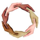 Obraz ludzkich rąk — Zdjęcie stockowe