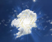 David star on blue sky — Stockfoto