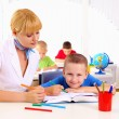 Teacher makes the lessons - Stockfoto