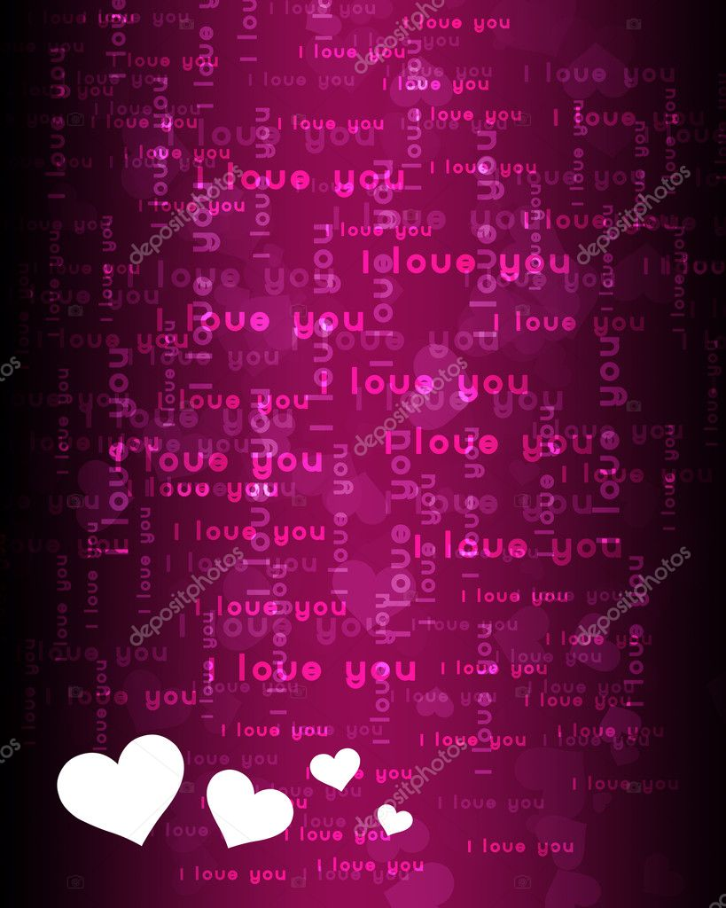 Wallpaper with love hearts against colour background — Stock Photo #6110080
