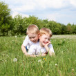 Two brothers outdoors — Stock Photo #6124673