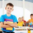 Stock Photo: Portrait of a student is in class