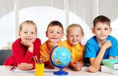 Group of pupils — Stock Photo